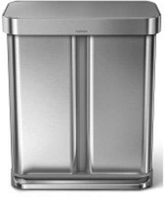 Simplehuman c poubelle round rtro 30 litres - Poubelle deux compartiments ...