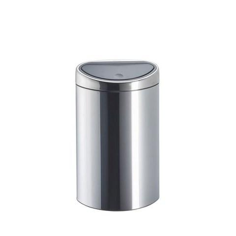 brabantia cpoubelle 10 litres touch bin rectangle inox bril. Black Bedroom Furniture Sets. Home Design Ideas