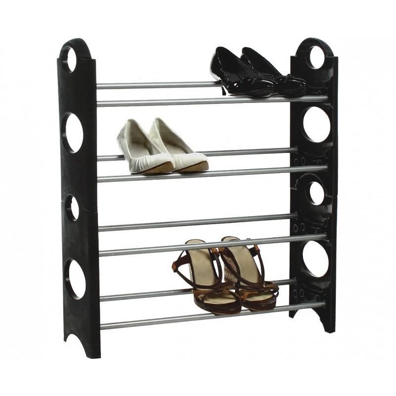 meuble chaussures 21 paires en bois h121cm caisson blanc shoot paris. Black Bedroom Furniture Sets. Home Design Ideas