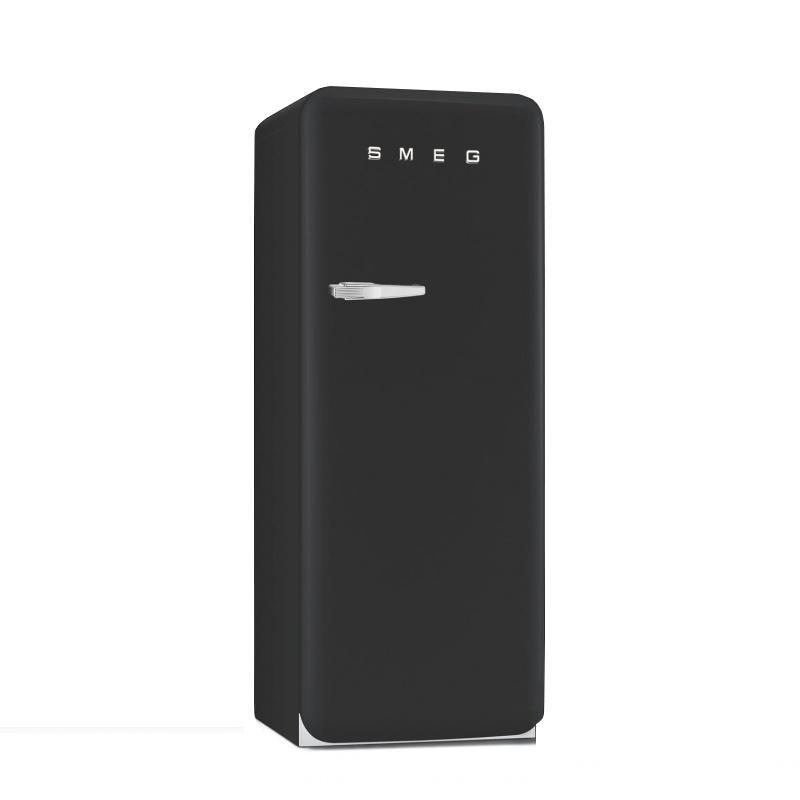 Smeg fab30 r frig rateur rose de cadillac laqu - Refrigerateur noir 1 porte ...