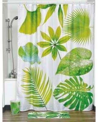 ferm rideau de douche en coton et acrylique triangle l. Black Bedroom Furniture Sets. Home Design Ideas