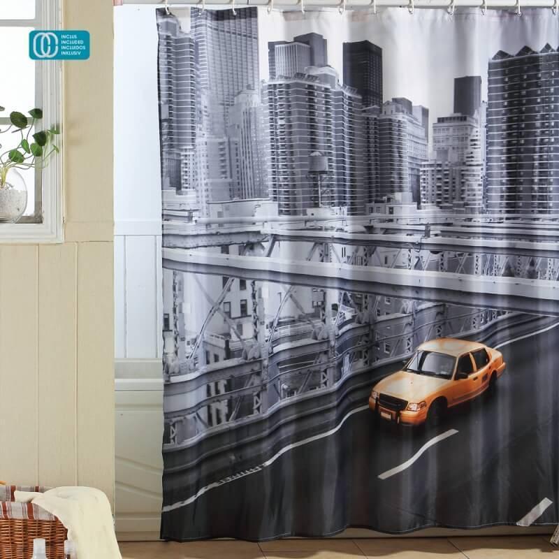 Catgorie rideaux de douche du guide et comparateur d 39 achat - Rideau de douche new york ...