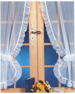 rideaux bonne femme macram excellent paire de rideaux bonne femme embrasses volant carreaux. Black Bedroom Furniture Sets. Home Design Ideas