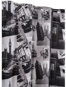 Rideau Occultant 135 x 240 cm Imprime Design City New York