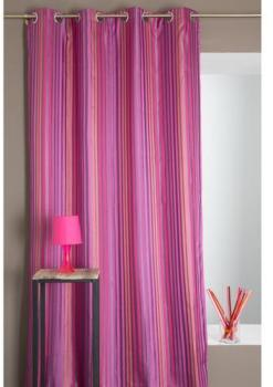 homemaison rideau bouchara en jacquard rayures. Black Bedroom Furniture Sets. Home Design Ideas