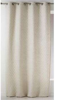 homemaison home maison rideau en toile de coton avec parement plis ivoi. Black Bedroom Furniture Sets. Home Design Ideas