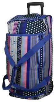 Sac de voyage trolley cabine Roxy Wheelie 50 cm Dress Blues Wintery Geo violet JeVX43decY