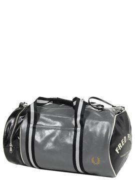 Sac de voyage cabine Fred Perry Classic Barrel Bag 45 cm Black/Go noir 2Eauj