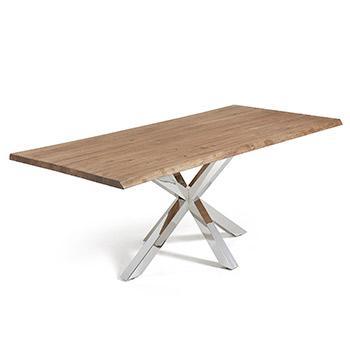 Kave Home Table rectangulaire Argo en Verre avec Pieds en Acier