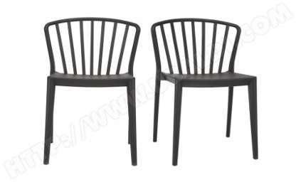 Chaises Design Empilables Noires Intrieur Extrieur