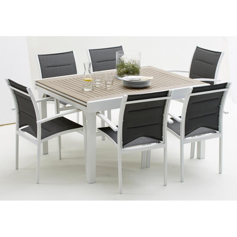 Best table de jardin wilsa photos amazing house design for Table extensible aluminium