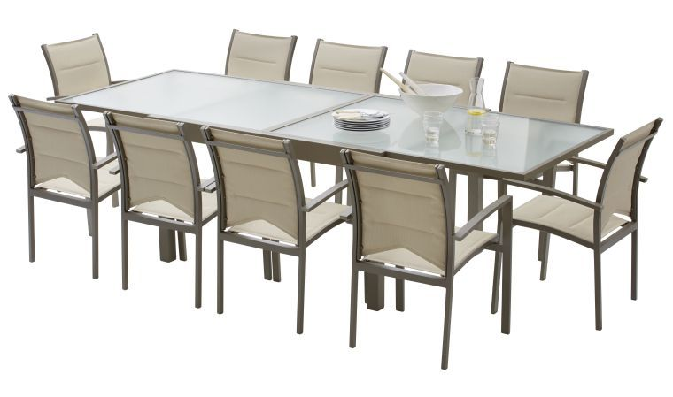 Emejing Table De Jardin Aluminium Taupe Pictures Awesome
