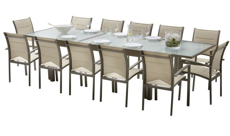 Stunning Table De Jardin Extensible Metal Verre Ideas - Amazing ...
