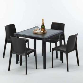 Hesperide censemble table bar r sine tress e 6 tabourets t - Salon de jardin bar lumineux versailles ...