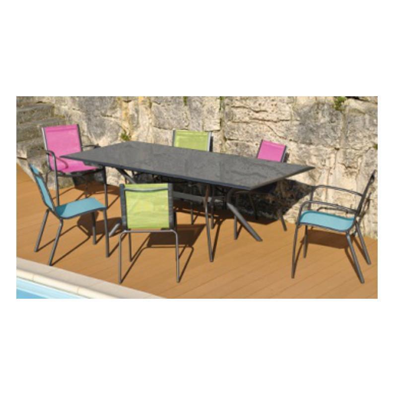 Emejing salon de jardin alu taupe images amazing house for Chaise design couleur taupe