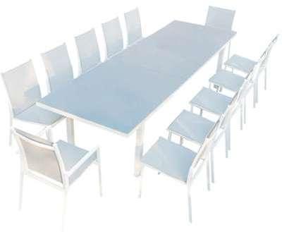 Moniga 12 table de jardin, Moniga 12   table de jardin extensible 12  personnes avec 2 fauteuils et 70f1808c9047