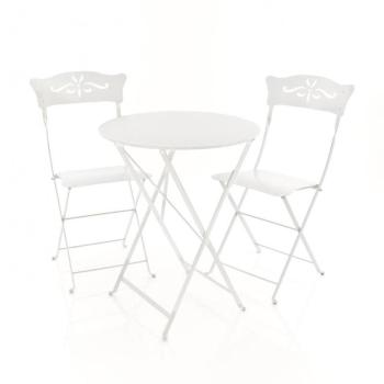 bistro table pliante 60cm gris
