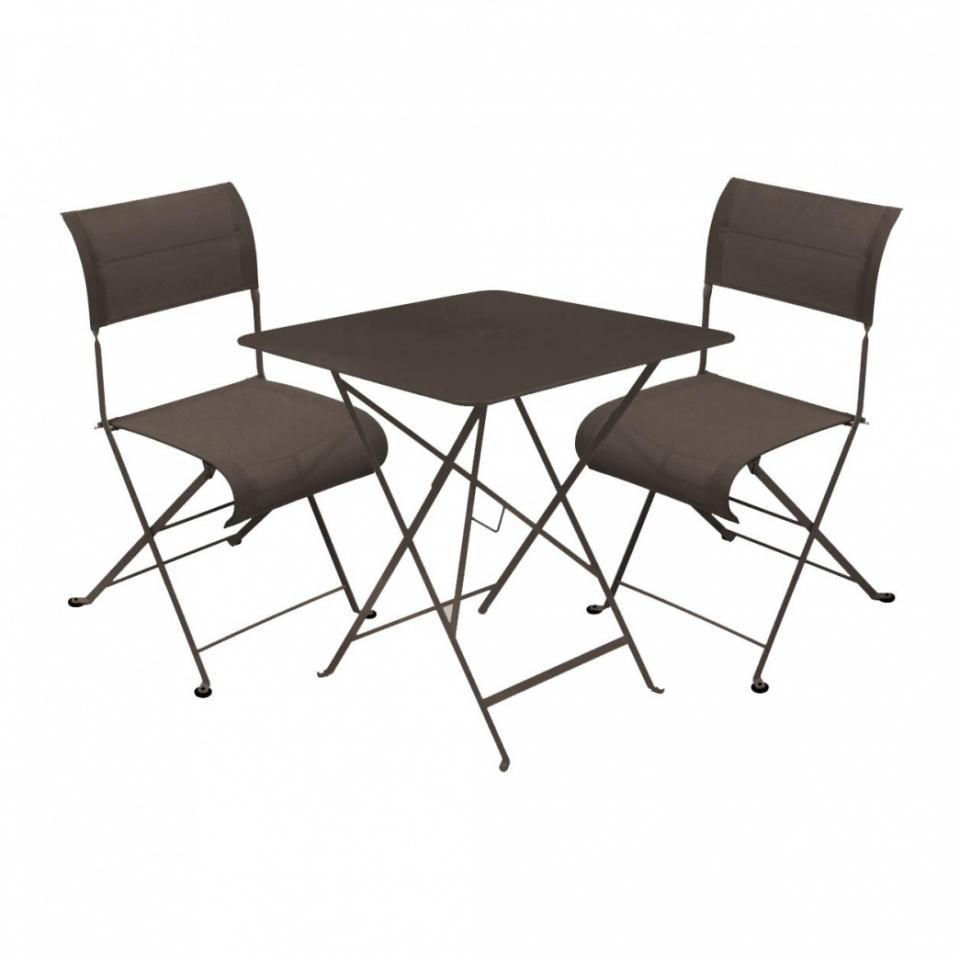 Table De Jardin Pliante Carrefour : Dune Bistro  Ensemble de jardin  rouille2 chaises & 1 tabletable 7