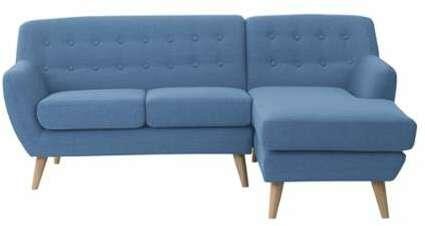 1f49cf7d6ca Canapé angle en tissu bleu