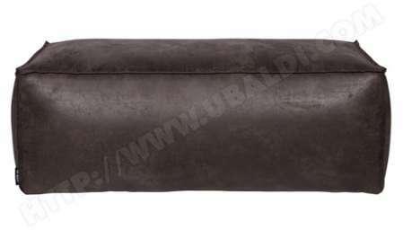 Pouf en cuir coloris noir 4a1b969d929
