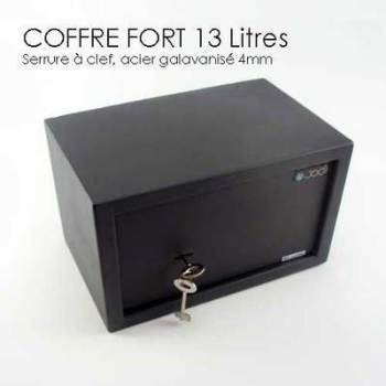 securitegooddeal coffre fort 22l clef et code rouge. Black Bedroom Furniture Sets. Home Design Ideas