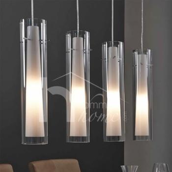 luminaire suspension design en nickel chrome verre yona 4 lampes Résultat Supérieur 14 Impressionnant Luminaire Suspension Photographie 2017 Gst3