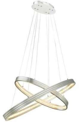 suspension globo led nickel mat lumieres