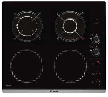 brandt bpi6413bm table mixte induction gaz. Black Bedroom Furniture Sets. Home Design Ideas