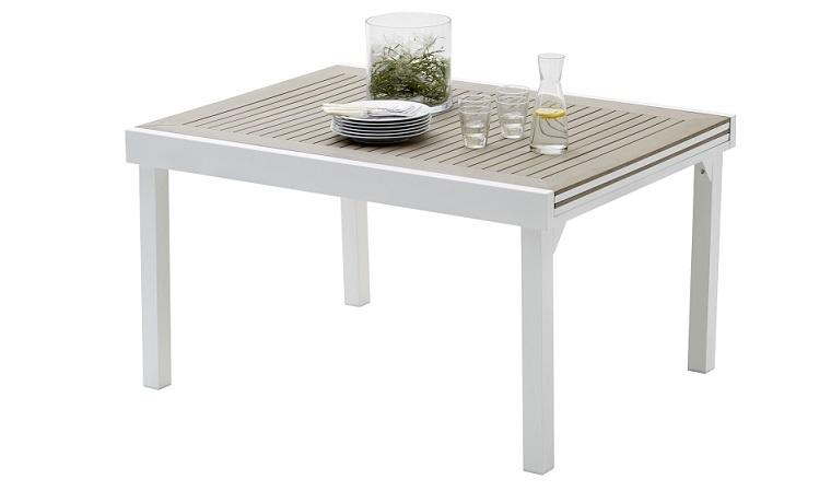 Table De Jardin Extensible Aluminium Et Composite. Perfect Stunning ...