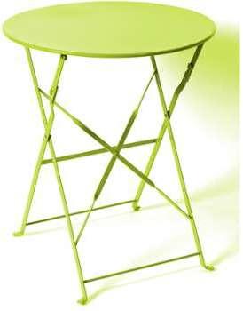 Hesperide Table carrée CAMARGUE pliante 70 x 70 x 71 cm Verte Hespéride