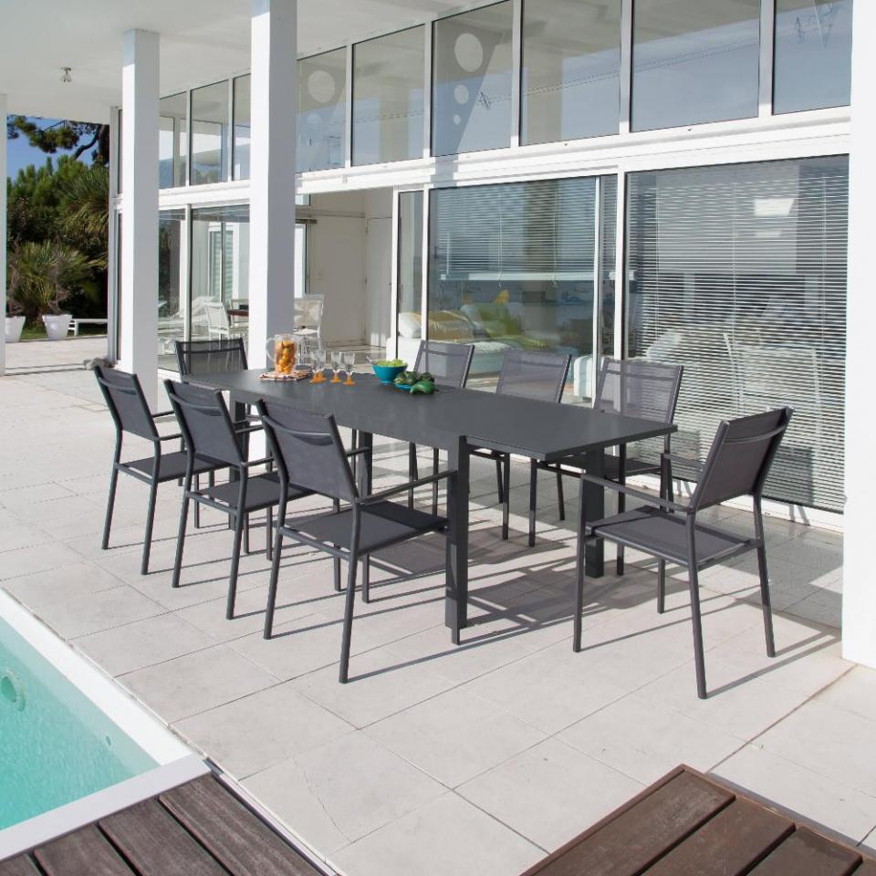 Catgorie table de jardin du guide et comparateur d 39 achat - Table de jardin avec rallonge en verre ...