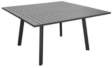 Proloisirs Table De Jardin Carrée 160 X 160 Cm En Aluminium