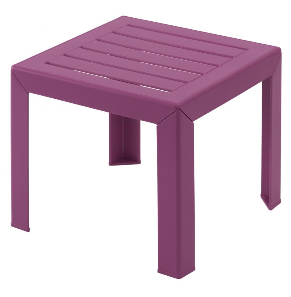 Table basse de jardin rouge for Table de jardin conforama
