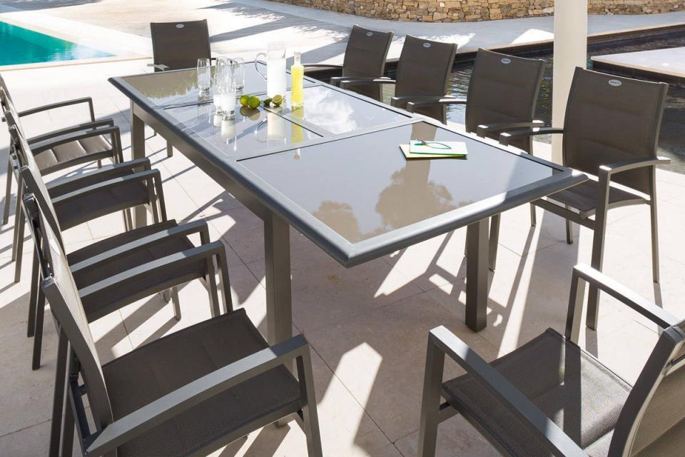 Catgorie table de jardin du guide et comparateur d 39 achat - Table de jardin extensible plateau verre ...