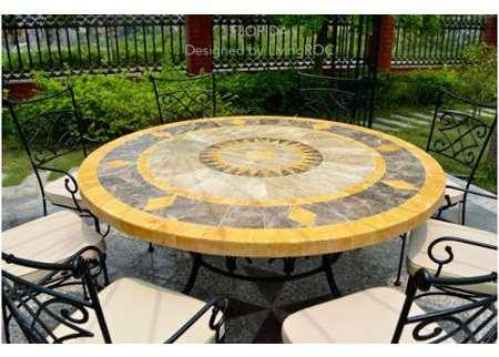 mosaique marbre galets plats