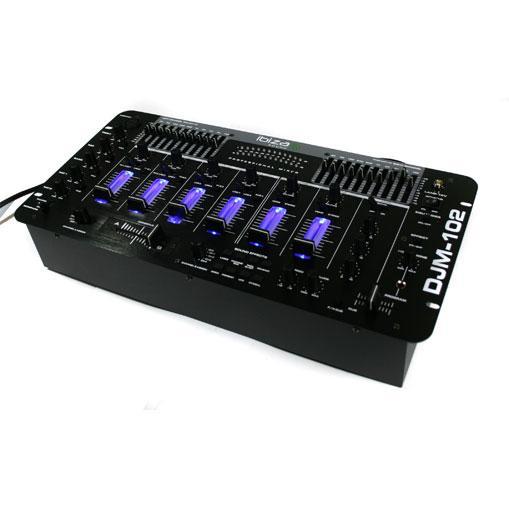 Ibiza djm 102 mixer 4 canaux led effets echo battle blanche - Table de mixage ibiza mix 800 ...