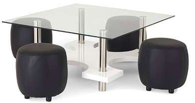 table basse camillia plateau en verre tremp structure en mdf laqu. Black Bedroom Furniture Sets. Home Design Ideas