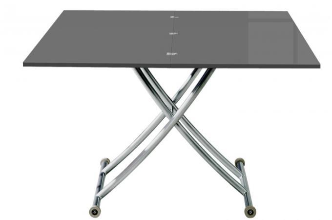 Switsofa canap 2 places ella gris - Table basse qui s ouvre ...