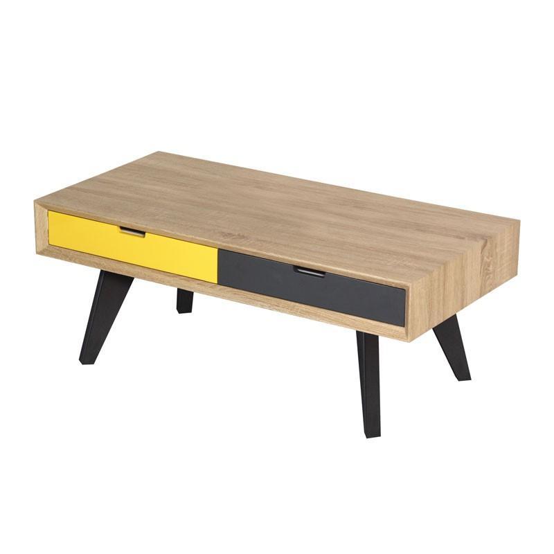 Lampe de salon scandinave en bois avec leds butterfly Table basse scandinave avec tiroir