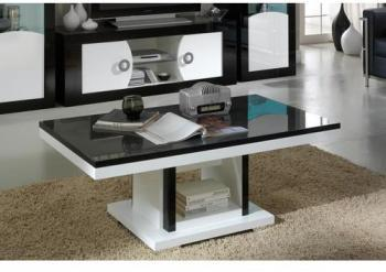 Catgorie tables basses page 2 du guide et comparateur d 39 achat - Table basse noir et blanc design ...