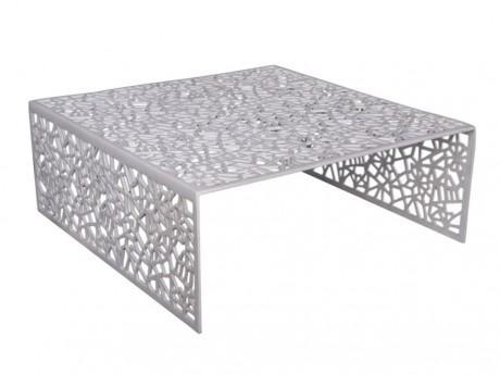 Table Basse Splendeur En Aluminium Coloris Blanc