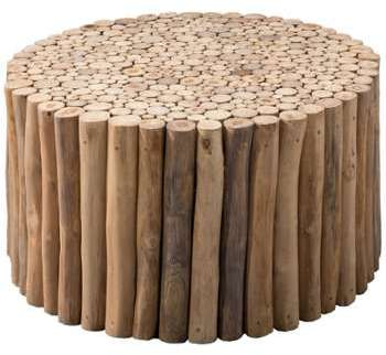 Table Basse Rond Rustique