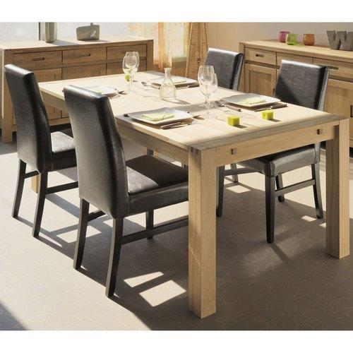 Table rectangulaire montezalo 150 x 90 cm noire hesp ride for Table bois a rallonge rectangulaire