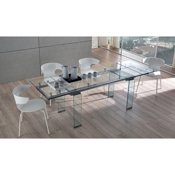 Catgorie tables de salle manger page 20 du guide et comparateur d 39 achat - Table rectangulaire en verre avec rallonge ...