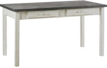 Table bois dessus zinc for Table salle a manger zinc