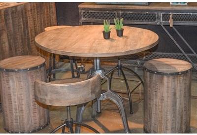 table bar industrielle manivelle - Table Bar Industriel