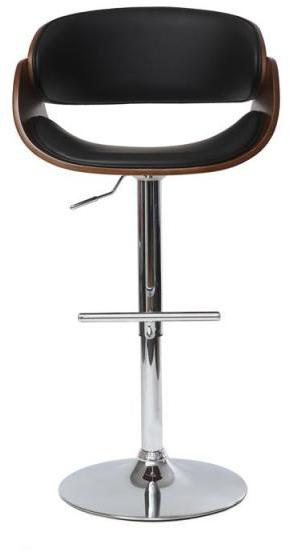 tabouret de bar design noir et bois clair bent