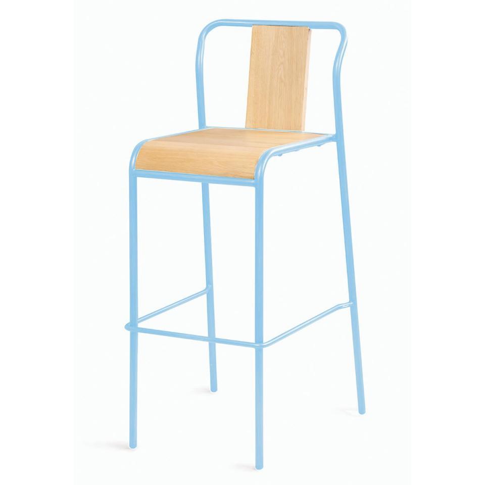 2x chaise de bar m tal noir ray. Black Bedroom Furniture Sets. Home Design Ideas