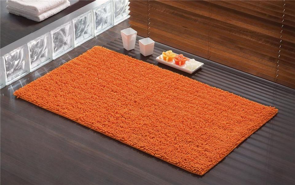 elegant tapis de bain tuya orange x cm cuisissimo with la redoute tapis salle de bain - Tapis Salle De Bain Grande Taille