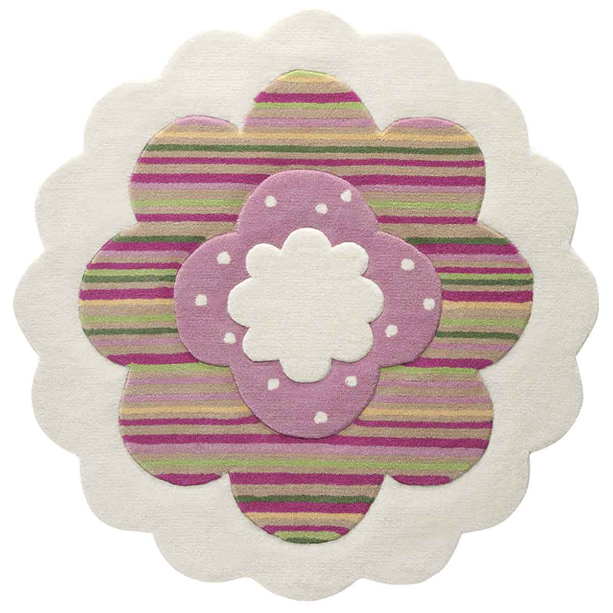 esprit ctapis flower shape blanc 100x100 par. Black Bedroom Furniture Sets. Home Design Ideas